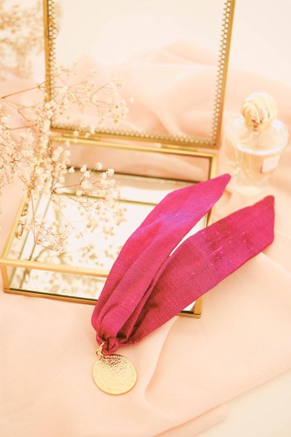 Bracelet Suzie Soie Fuchsia - Maison Célestine