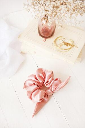 Chouchou Oscar Satin Rose Nude - Maison Célestine