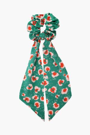 Chouchou foulard Suzanne Fleurs d'Emeraude - Maison Célestine