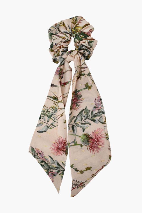 Chouchou foulard Suzanne Fleurs Sauvages - Maison Célestine