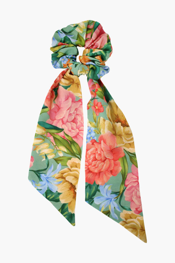 Chouchou foulard Suzanne Jardin Vintage - Maison Célestine