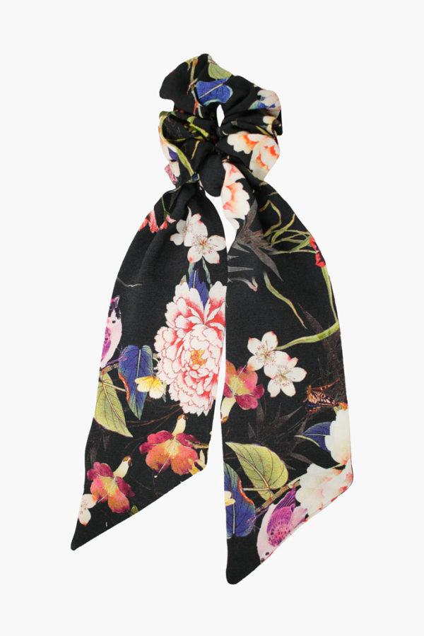 Chouchou foulard Suzanne Poésie Japonaise - Maison Célestine