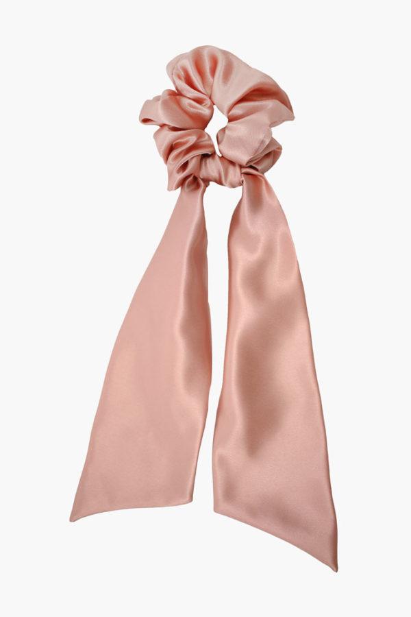 Chouchou foulard Suzanne Satin Rose - Maison Célestine