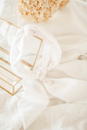 Turban foulard Rita Broderie Anglaise - Maison Célestine