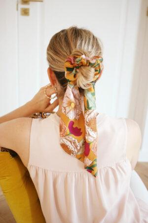 Chouchou foulard Suzanne Big Bloom - Maison Célestine