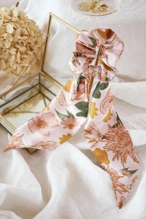 Chouchou foulard Suzanne Protea - Maison Célestine