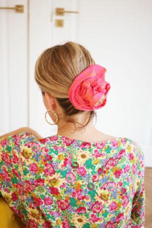 Maxi-chouchou Frida Jacquard Rose - Maison Célestine